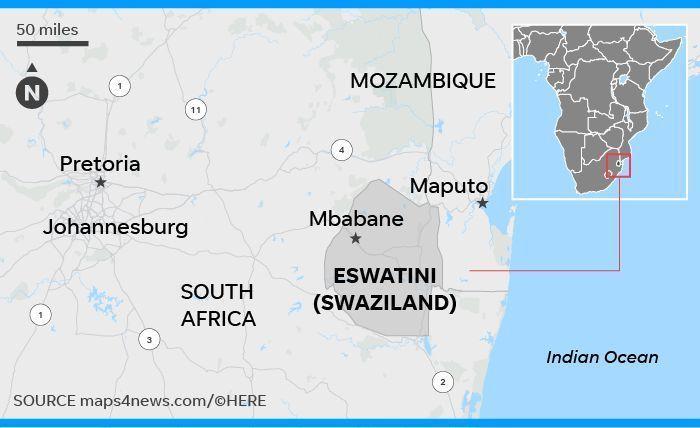 Chuyển phát nhanh đi Eswatini