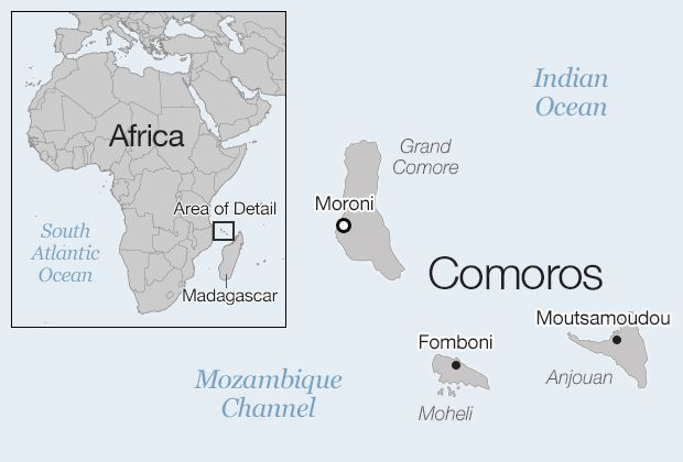 Chuyển phát nhanh đi Comoros