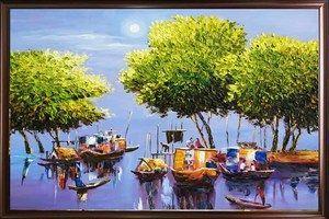 Gửi tranh thêu – tranh sơn dầu đi Úc